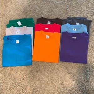 Never used Boys T-Shirts- variety of colors.